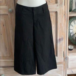 Joie Pin Stripe Cropped Wide Leg Pants 0